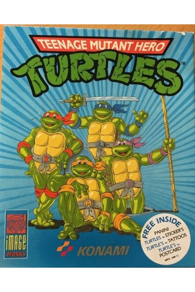 AMIGA FLOPPY DISK TEENAGE MUTANT HERO TURTLES PAL BIG BOX COMPLETO CON MANUALE