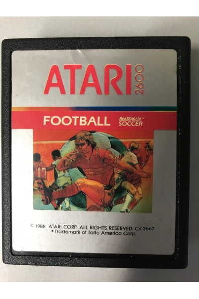 ATARI 2600 FOOTBALL REAL SPORTS SOCCER LOOSE SOLO CARTUCCIA