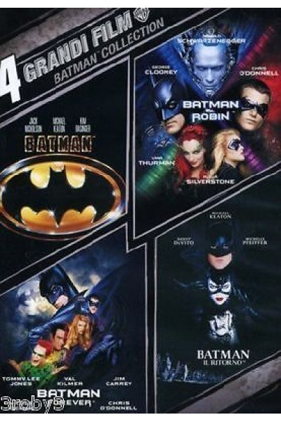 BATMAN COLLECTION COFANETTO 4 DVD NUOVO SIGILLATO