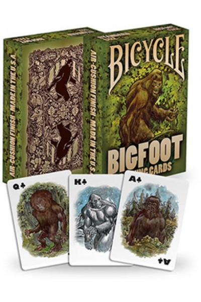 CARTE DA GIOCO BICYCLE BIG FOOT NUOVE SIGILLATE SCATOLA SCOLORITA