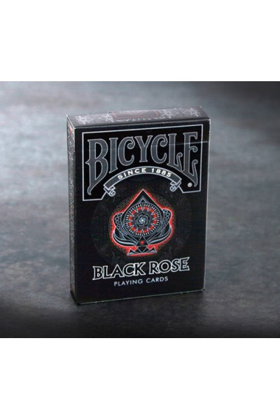 CARTE DA GIOCO BICYCLE BLACK ROSE NUOVE SIGILLATE