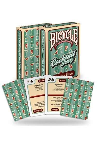 CARTE DA GIOCO BICYCLE COCKTAIL PARTY RECIPES NUOVE SIGILLATE