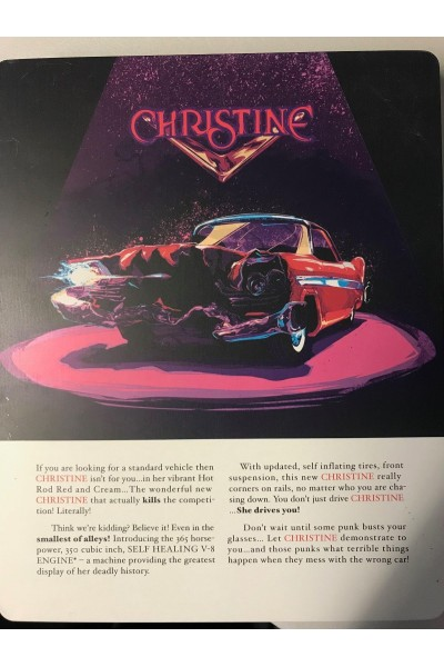CHRISTINE LA MACCHINA INFERNALE METAL BOX BLU RAY