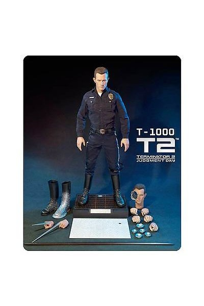 ENTERBAY T-1000 T2 TERMINATOR 2 JUDGMENT DAY ACTION FIGURE DOLL