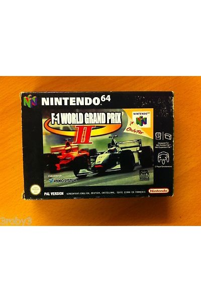 F1 WORLD GRAND PRIX II 2 NINTENDO 64  N64 PAL VERSION COMPLETO CON  MANUALE