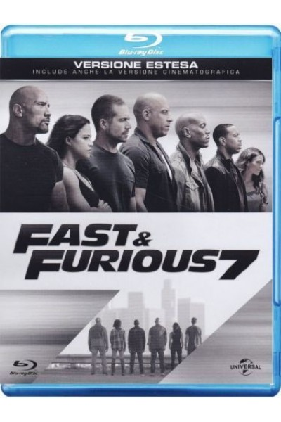 FAST E AND FURIOUS 7 BLU RAY