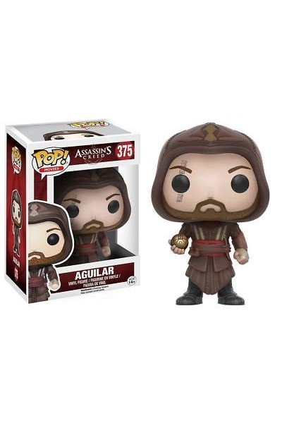 FUNKO POP ASSASSIN'S CREED AGUILAR VINILE FIGURE M.FASSBENDER - N.375 NUOVO