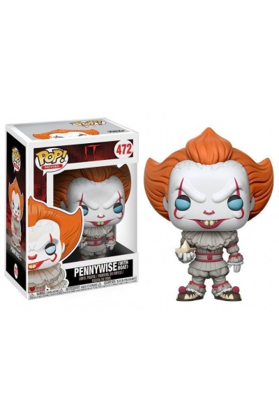 FUNKO POP IT PENNYWISE WITH BOAT - N. 472 NUOVO