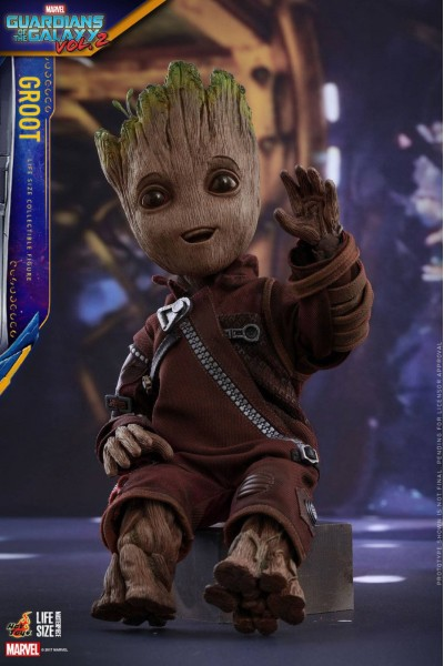 HOT TOYS BABY GROOT - MINI GROOT GUARDIANS OF THE GALAXY 2 LIFE SIZE FIGURE