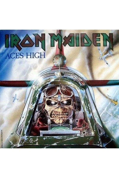 IRON MAIDEN ACES HIGH 45 GIRI 7'' EMI 5502