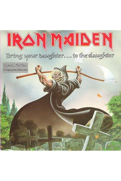 IRON MAIDEN BRING YOUR DAUGHTER TO THE SLAUGHTER 45 GIRI 7'' EMS 171
