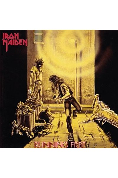IRON MAIDEN RUNNING FREE 45 GIRI 7'' BURNING AMBITION EMI 5032
