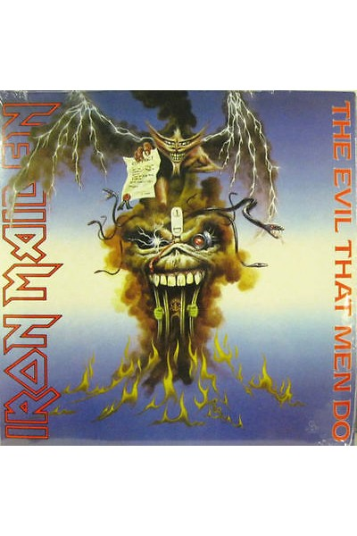 IRON MAIDEN THE EVIL THAT MEN DO 45 GIRI 7'' EMG 64