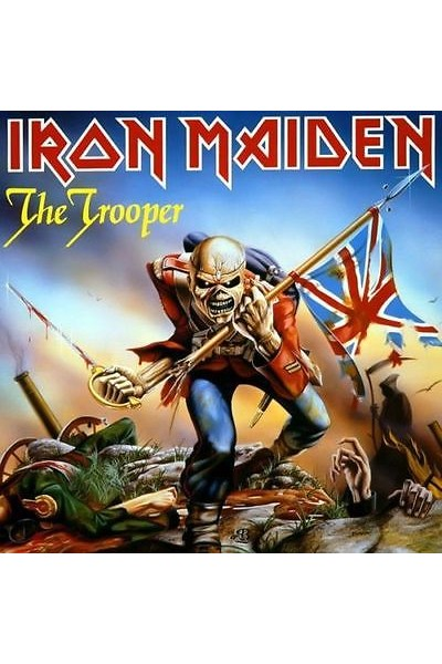 IRON MAIDEN THE TROOPER LIMITED EDITION BLUE VINYL WITH POSTER 45 GIRI 7''