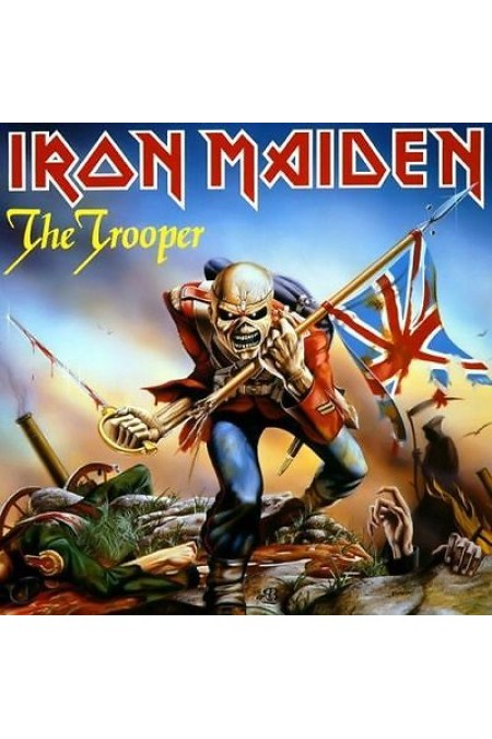 IRON MAIDEN THE TROOPER LIMITED EDITION BLUE VINYL WITH POSTER 45 GIRI 7