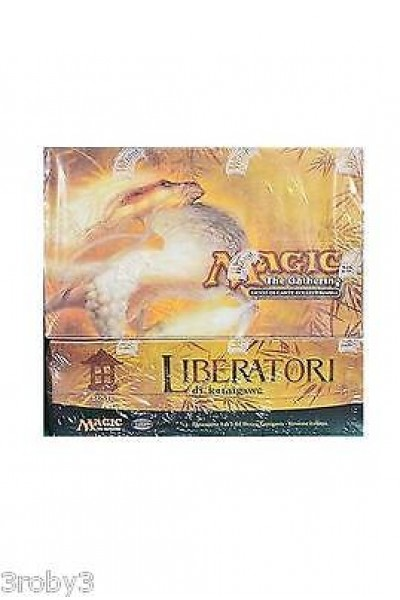 MAGIC THE GATHERING LIBERATORI KAMIGAWA BOX NUOVO SIG ITALIANO SCATOLA SBIADITA