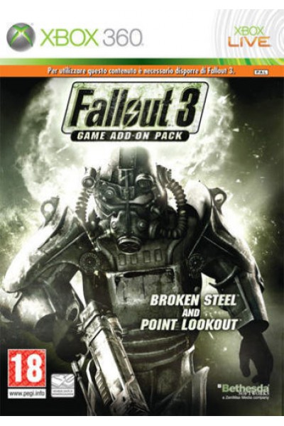 MICROSOFT XBOX 360 FALLOUT 3 BROKEN STEEL AND POINT LOOKOUT ADD ON PACK