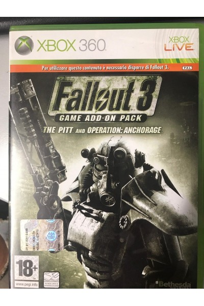 MICROSOFT XBOX 360 FALLOUT 3 THE PITT AND OPERATION ANCHORAGE ADD ON PACK
