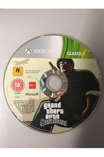 MICROSOFT XBOX 360 GTA GRAND THEFT AUTO SAN ANDREAS PAL SOLO DISCO
