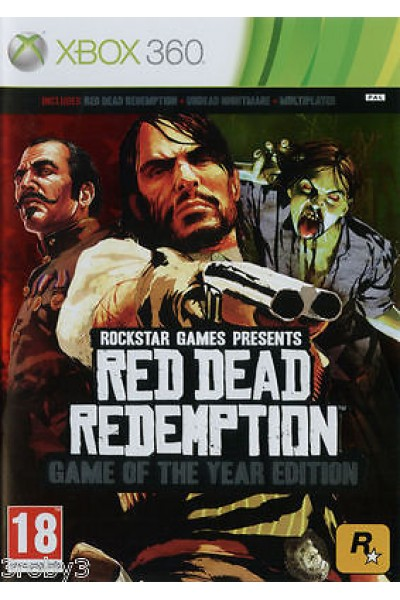 MICROSOFT XBOX 360 RED DEAD REDEMPTION GAME OF THE YEAR EDITION GOTY PAL