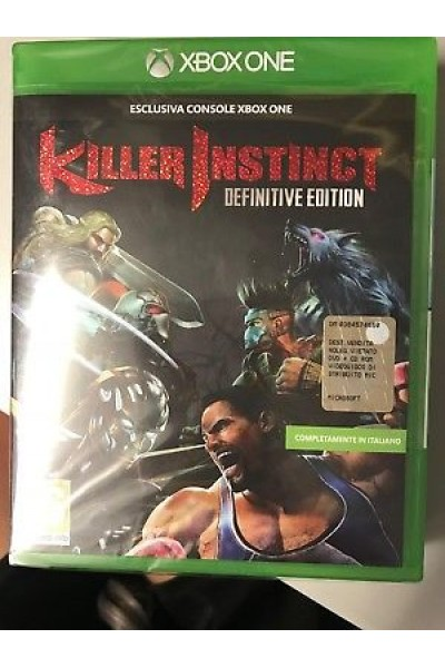 MICROSOFT XBOX ONE KILLER INSTINCT DEFINITIVE ED PAL ITALIANO NUOVO SIGILLATO