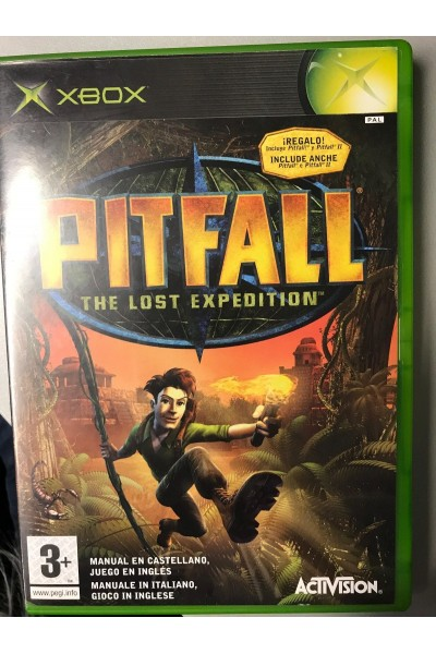 MICROSOFT XBOX PITFALL THE LOST EXPEDITION VERSIONE PAL COMPLETO