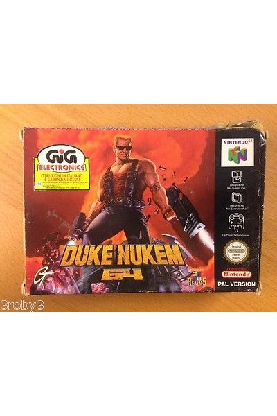 N64 NINTENDO 64 DUKE NUKEM 64 PAL ITALIAN VERSION COMPLETE - ITALIANO
