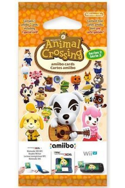 NINTENDO 3DS ANIMAL CROSSING HAPPY HOME DESIGNER CARTE AMIIBO SERIE 2 NUOVE
