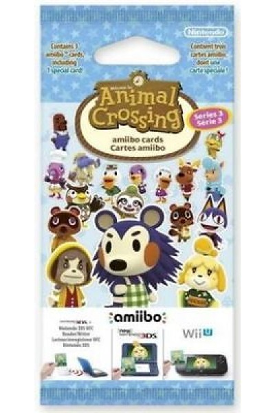NINTENDO 3DS ANIMAL CROSSING HAPPY HOME DESIGNER CARTE AMIIBO SERIE 3 NUOVE