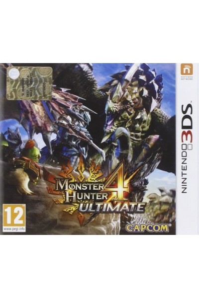 NINTENDO 3DS MONSTER HUNTER 4 ULTIMATE PAL ITALIANO NUOVO SIGILLATO