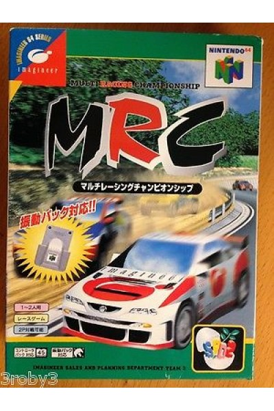 NINTENDO 64 MRC MULTI RACING CHAMPIONSHIP JAP VERSION JAPAN JPN COMPLETE
