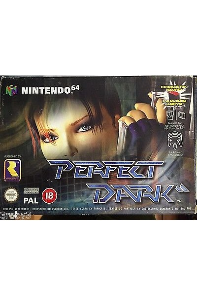 NINTENDO 64  N64 PERFECT DARK PAL ITALIANO COMPLETO CON BOX E MANUALE RARO