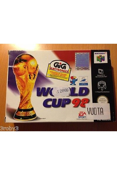 NINTENDO 64 WORLD CUP PAL ITALIANO COMPLETO N64 GIG