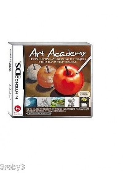 NINTENDO DS ART ACADEMY PAL MANUALE E CUSTODIA UK GIOCO IN ITALIANO