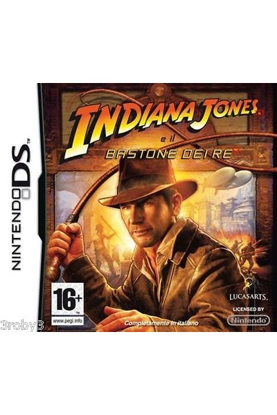 NINTENDO DS INDIANA JONES E IL BASTONE DEI RE PAL ITALIANO COMPLETO