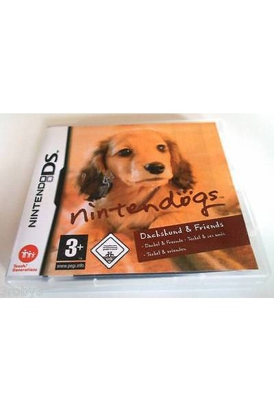 NINTENDO DS NINTENDOGS DACHSHUND & FRIENDS PAL ITALIANO SENZA MANUALE