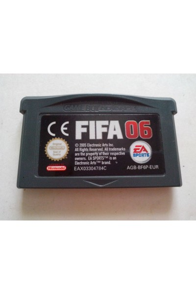NINTENDO GAMEBOY GAME BOY ADVANCE FIFA 06 PAL SOLO CARTUCCIA LOOSE