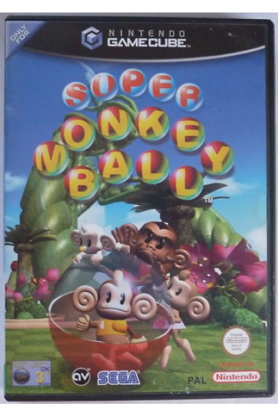 NINTENDO GAMECUBE GAME CUBE SUPER MONKEY BALL PAL ITALIANO COMPLETO