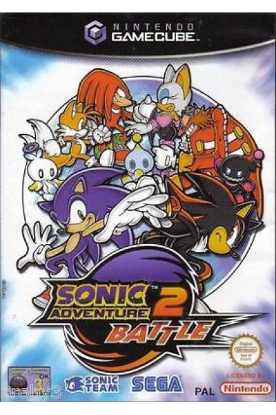 NINTENDO GAMECUBE SONIC ADVENTURE 2 BATTLE PAL MANUALE ITALIANO GIOCO INGLESE