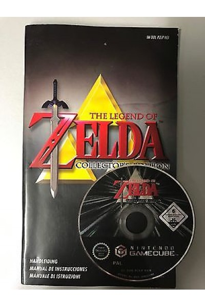 NINTENDO GAMECUBE THE LEGEND OF ZELDA OCARINA + MAJORA'S SOLO DISCO E MANUALE