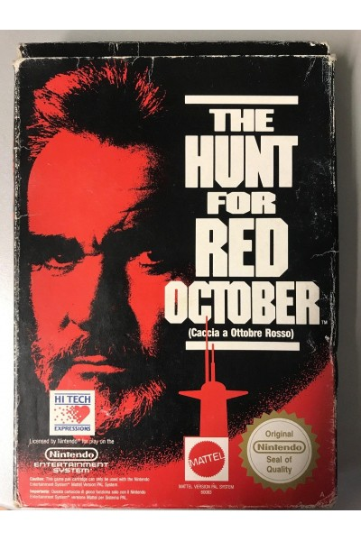 NINTENDO NES THE HUNT FOR RED OCTOBER BOXATO SENZA MANUALE
