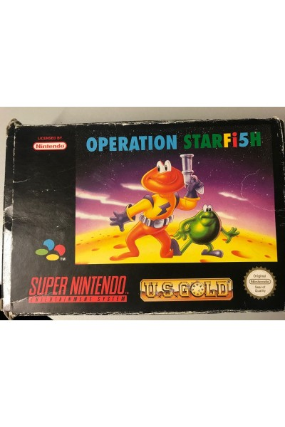 NINTENDO SUPER NINTENDO OPERATION STARFISH VERSIONE PAL COMPLETO