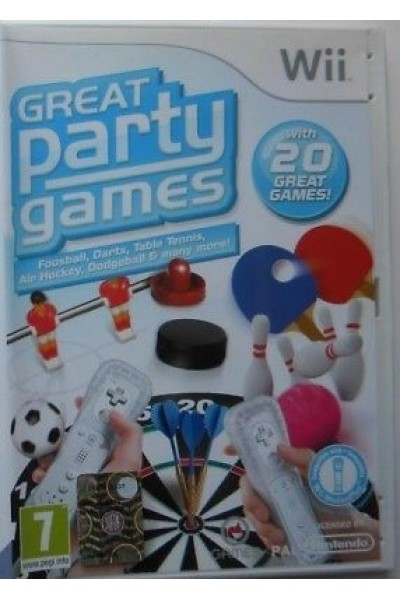 NINTENDO WII GREAT PARTY GAMES PAL ITALIANO COMPLETO