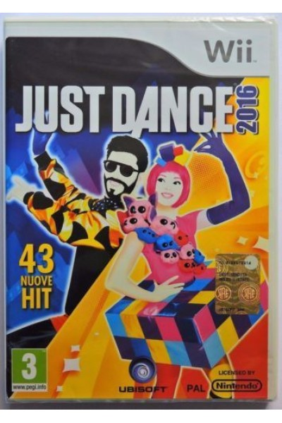 NINTENDO WII JUST DANCE 2016 PAL ITALIANO COMPLETO