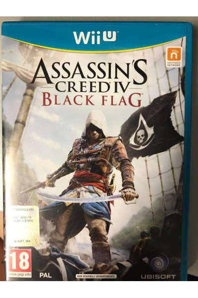 NINTENDO WII U ASSASSIN'S CREED BLACK FLAG BUNDLE COPY PAL ITALIANO COMPLETO
