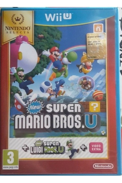 NINTENDO WII U NEW SUPER MARIO BROS U + NEW SUPER LUIGI U PAL ITA NO MANUALE