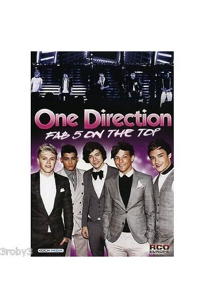 ONE DIRECTION FAB 5 ON THE TOP DVD NUOVO SIGILLATO