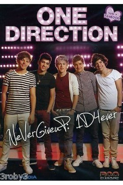 ONE DIRECTION NEVER GIVE UP DVD + FANBOOK NUOVO SIGILLATO
