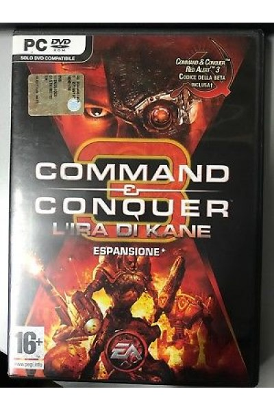 PC CD ROM COMMAND E CONQUER 3 L'IRA DI KANE PAL ITALIANO COMPLETO