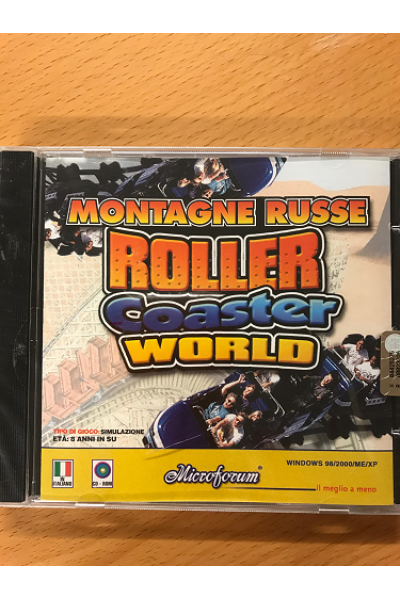 PC CD ROM MONTAGNE RUSSE ROLLER COASTER WORLD PAL ITALIANO NUOVO SIGILLATO